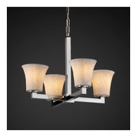 Justice Design Limoges Modular 4-Light Chandelier in Polished Chrome POR-8829-20-BANL-CROM