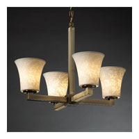 Justice Design Limoges Modular 4-Light Chandelier in Antique Brass POR-8829-20-LEAF-ABRS