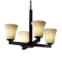Justice Design Limoges Modular 4-Light Chandelier in Matte Black POR-8829-20-PLET-MBLK