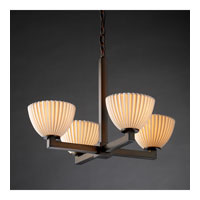 Justice Design Limoges Modular 4-Light Chandelier in Dark Bronze POR-8829-35-PLET-DBRZ