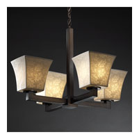 Justice Design Limoges Modular 4-Light Chandelier in Dark Bronze POR-8829-40-LEAF-DBRZ