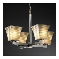 Justice Design Limoges Modular 4-Light Chandelier in Brushed Nickel POR-8829-40-SAWT-NCKL