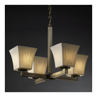 Justice Design Limoges Modular 4-Light Chandelier in Antique Brass POR-8829-40-WFAL-ABRS