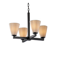 Justice Design Limoges Modular 4-Light Chandelier in Matte Black POR-8829-50-PLET-MBLK