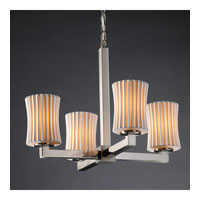 Justice Design Limoges Modular 4-Light Chandelier in Brushed Nickel POR-8829-60-PLET-NCKL