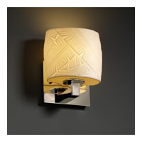 Justice Design Limoges Modular 1-Uplight Wall Sconce (Ada) in Polished Chrome POR-8831-30-BANL-CROM