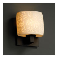 Justice Design Limoges Modular 1-Uplight Wall Sconce (Ada) in Dark Bronze POR-8831-30-LEAF-DBRZ photo thumbnail