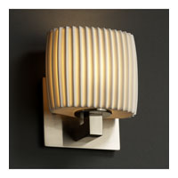 Justice Design Limoges Modular 1-Uplight Wall Sconce (Ada) in Brushed Nickel POR-8831-30-PLET-NCKL photo thumbnail