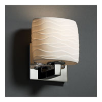 Justice Design Limoges Modular 1-Uplight Wall Sconce (Ada) in Polished Chrome POR-8831-30-WAVE-CROM