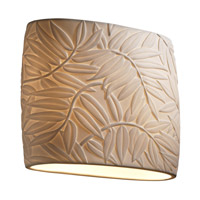 Justice Design Limoges Ada Wide Oval Wall Sconce POR-8855-BMBO