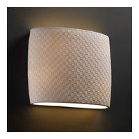 Justice Design Limoges Ada Wide Oval Wall Sconce POR-8855-CHKR photo thumbnail