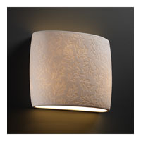 Justice Design Limoges Ada Wide Oval Wall Sconce POR-8855-LEAF