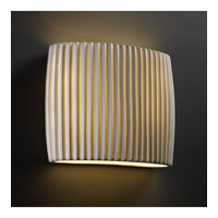 Justice Design Limoges Ada Wide Oval Wall Sconce POR-8855-PLET