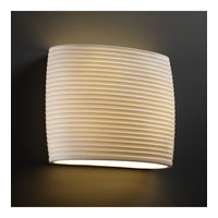 Justice Design Limoges Ada Wide Oval Wall Sconce POR-8855-SAWT
