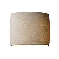 Justice Design Limoges Ada Wide Oval Wall Sconce POR-8855-WAVE