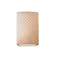 Justice Design POR-8856-CHKR Limoges 1 Light 7 inch Wall Sconce Wall Light in Checkerboard Checkerboard Impression