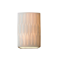 Justice Design POR-8856-OVAL Limoges 1 Light 7 inch Wall Sconce Wall Light in Oval Oval Shade Impression