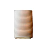Justice Design POR-8856-SAWT Limoges 1 Light 7 inch Wall Sconce Wall Light in Sawtooth Sawtooth Shade Impression