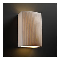 Justice Design Limoges Large Rectangle Wall Sconce POR-8856-WFAL