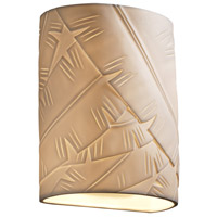 Justice Design POR-8857-PLET-LED1-1000 Limoges LED 7 inch ADA Wall Sconce Wall Light in Pleats, 1000 Lm LED