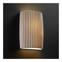 Justice Design POR-8858-PLET Limoges 2 Light 8 inch ADA Wall Sconce Wall Light in Pleats photo thumbnail