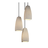 Justice Design Limoges Pendants Small 3-Light Cluster Pendant in Brushed Nickel POR-8864-65-BMBO-NCKL