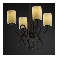 Justice Design Limoges Capellini 4-Light Chandelier in Dark Bronze POR-8910-10-BMBO-DBRZ