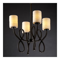 Justice Design Limoges Capellini 4-Light Chandelier in Dark Bronze POR-8910-10-WAVE-DBRZ