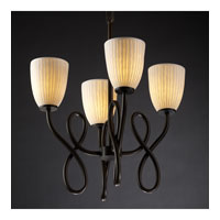 Justice Design Limoges Capellini 4-Light Chandelier in Dark Bronze POR-8910-18-WFAL-DBRZ photo thumbnail