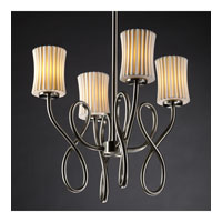 Justice Design Limoges Capellini 4-Light Chandelier in Brushed Nickel POR-8910-60-PLET-NCKL