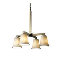 Justice Design Limoges Modular 4-Downlight Chandelier in Antique Brass POR-8920-20-WFAL-ABRS