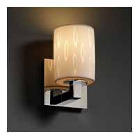 Justice Design Limoges Modular 1-Light Wall Sconce in Polished Chrome POR-8921-10-OVAL-CROM