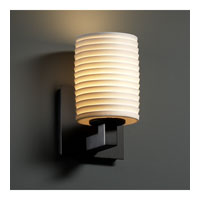 Justice Design Limoges Modular 1-Light Wall Sconce in Matte Black POR-8921-10-SAWT-MBLK