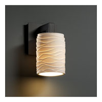 Justice Design Limoges Modular 1-Light Wall Sconce in Matte Black POR-8921-10-WAVE-MBLK