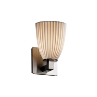 Justice Design Limoges Modular 1-Light Wall Sconce in Brushed Nickel POR-8921-18-PLET-NCKL