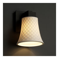 Justice Design Limoges Modular 1-Light Wall Sconce in Matte Black POR-8921-20-CHKR-MBLK