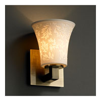 Justice Design Limoges Modular 1-Light Wall Sconce in Antique Brass POR-8921-20-LEAF-ABRS