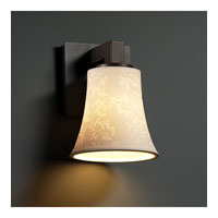 Justice Design Limoges Modular 1-Light Wall Sconce in Dark Bronze POR-8921-20-LEAF-DBRZ