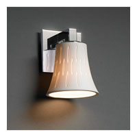 Justice Design Limoges Modular 1-Light Wall Sconce in Polished Chrome POR-8921-20-OVAL-CROM