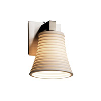 Limoges 1 Light 6 inch Brushed Nickel Wall Sconce Wall Light in Sawtooth, Round Flared