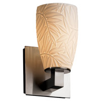 Justice Design POR-8921-28-BMBO-NCKL Limoges Modular 1 Light 5 inch Brushed Nickel Wall Sconce Wall Light in Bamboo Tall Tapered Cylinder