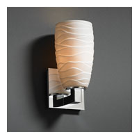 Limoges 1 Light 5 inch Polished Chrome Wall Sconce Wall Light in Waves, Tall Tapered Cylinder
