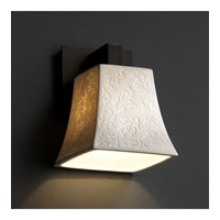 Justice Design Limoges Modular 1-Light Wall Sconce in Dark Bronze POR-8921-40-LEAF-DBRZ