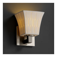 Justice Design Limoges Modular 1-Light Wall Sconce in Brushed Nickel POR-8921-40-OVAL-NCKL
