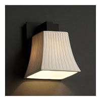 Justice Design Limoges Modular 1-Light Wall Sconce in Matte Black POR-8921-40-WFAL-MBLK