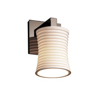 Justice Design Limoges Modular 1-Light Wall Sconce in Black Nickel POR-8921-60-SAWT-BLKN