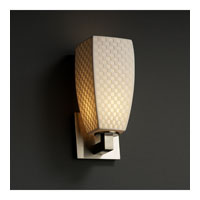 Justice Design Limoges Modular 1-Light Wall Sconce in Brushed Nickel POR-8921-65-CHKR-NCKL