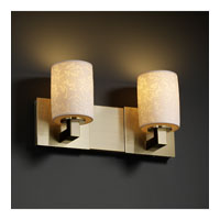 Justice Design Limoges Modular 2-Light Bath Bar in Antique Brass POR-8922-10-LEAF-ABRS