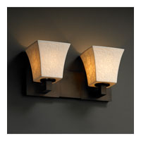 Justice Design Limoges Modular 2-Light Bath Bar in Dark Bronze POR-8922-40-LEAF-DBRZ