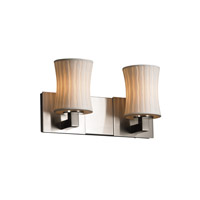 Limoges 2 Light 15 inch Brushed Nickel Bath Bar Wall Light in Waterfall, Hourglass
